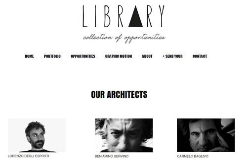 Snapshot from Library website