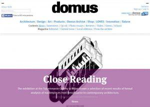 Snapshot of Domus webpage