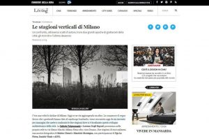 Snapshot from Living Corriere della Sera website