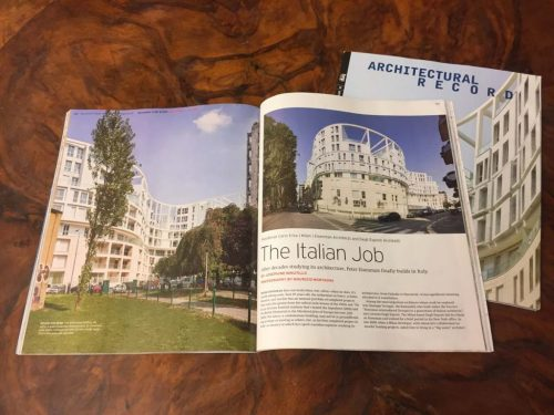 Architectural Record, october 2019, article on Residenze Carlo Erba, cover