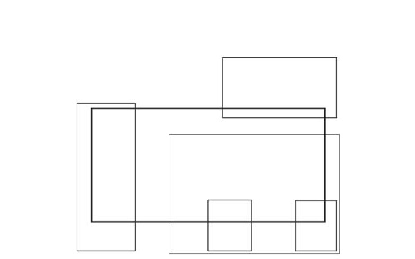Casa Calipso, Milan. Parti diagram