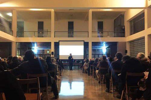 Lorenzo Degli Esposti conference in Como Casa del Fascio by Giuseppe Terragni